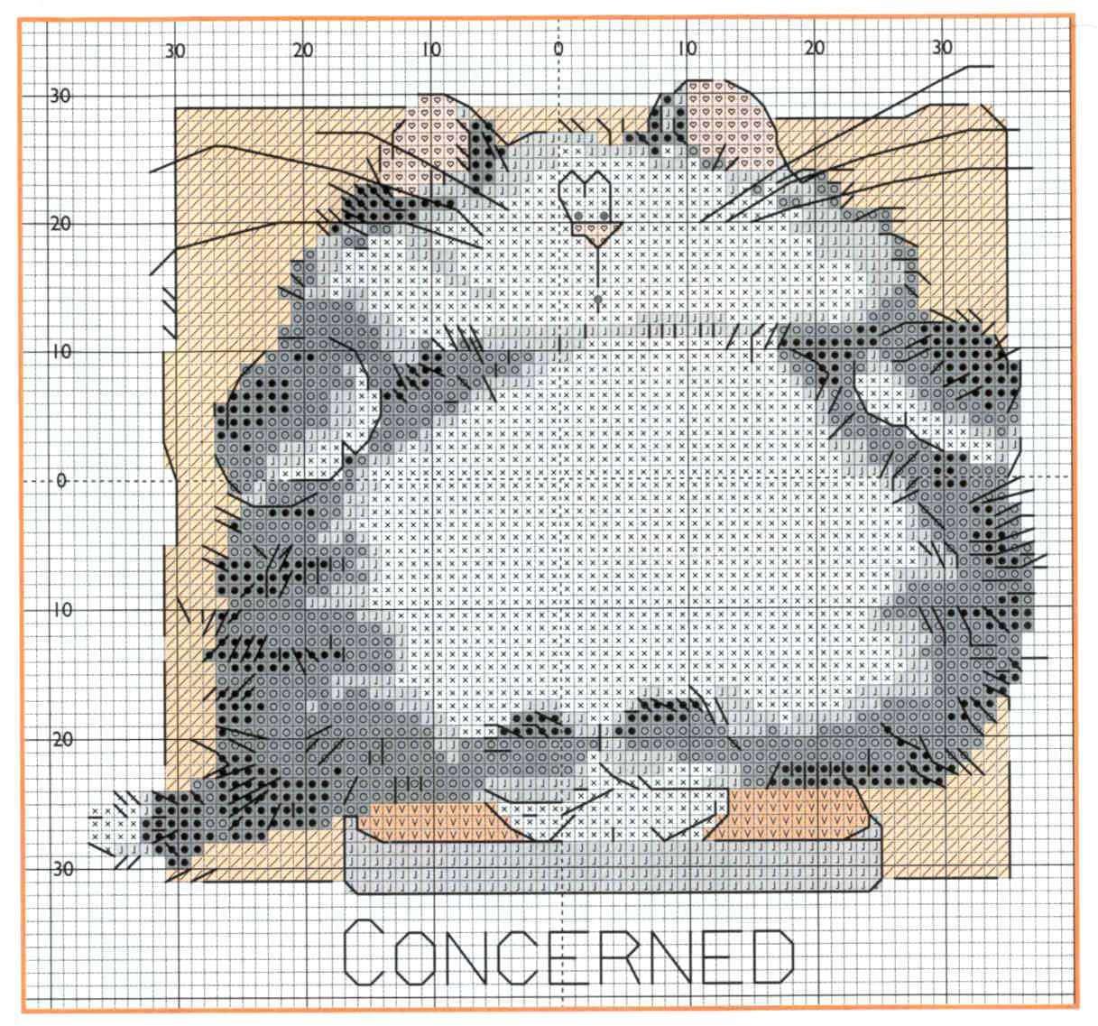 схема для вышивки крестом пингвин