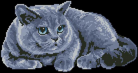 бесплатно скачать схему вышивки крестом кот