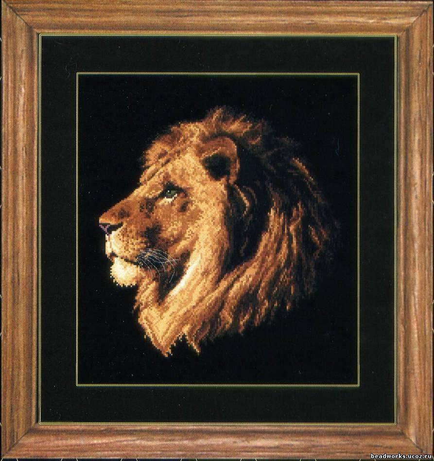 Скачать вышивку крестом львы