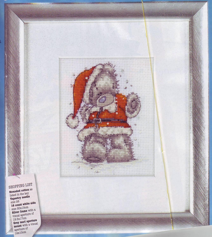 схема вышивки крестом сапожок санта и список