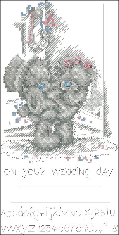 Схемы вышивки крестом мишки тедди свадьба 89