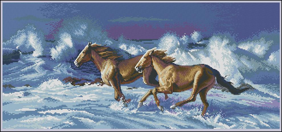 Вышивка крестом лошади схемы бесплатно скачать
