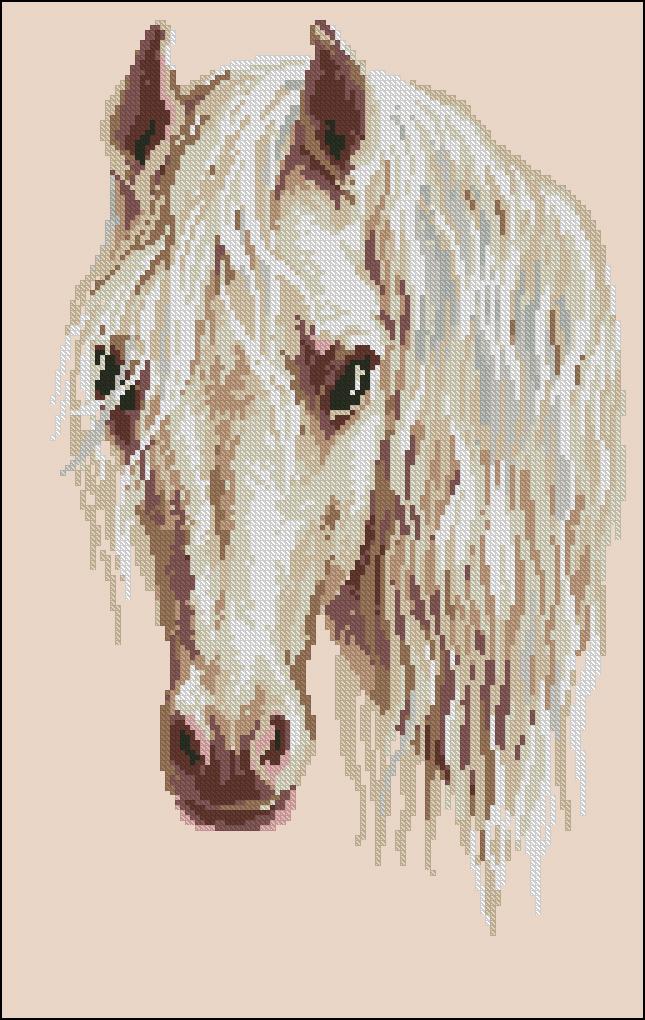 Вышивки лошадь луна