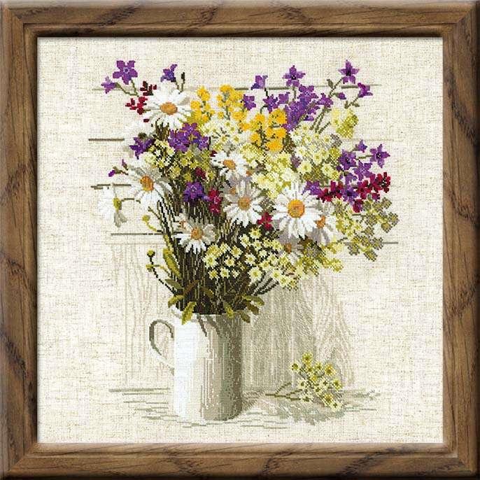 Схема вышивки полевые цветы скачать